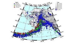 All recorded earthquakes in Alaska from 1898 to the present